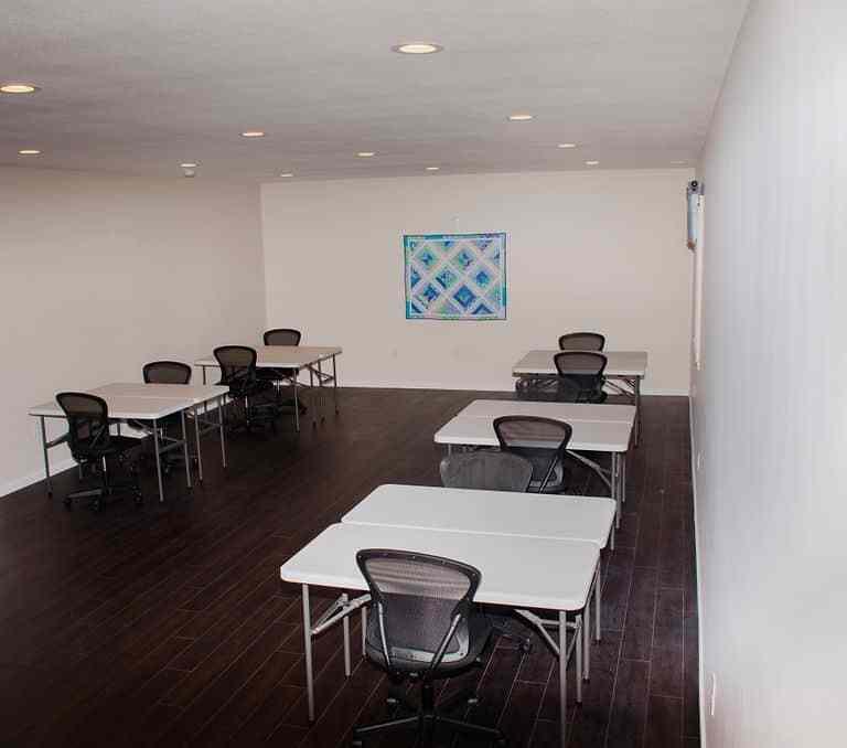 Dawson Retreats near Missouri star quilt co hotel villa sewing room