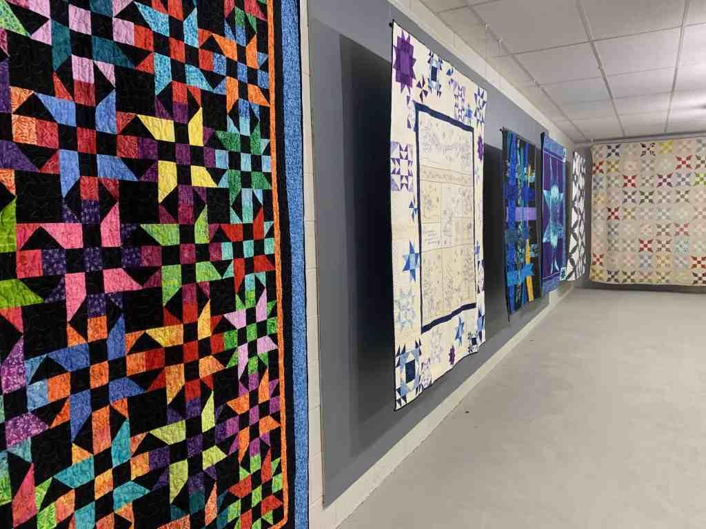 Hamilton Quilt Museum quilt wall