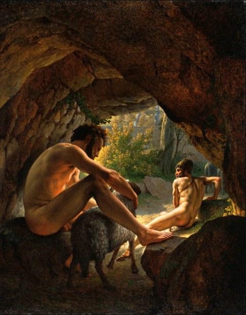 Ulysses i kyklopens hule - forsøger at undslippe