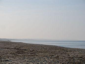 Mod vest er Spodsbjerg indhyllet i tåge