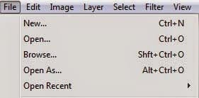 photoshop menu