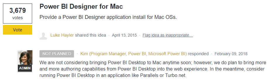 Power BI Mac