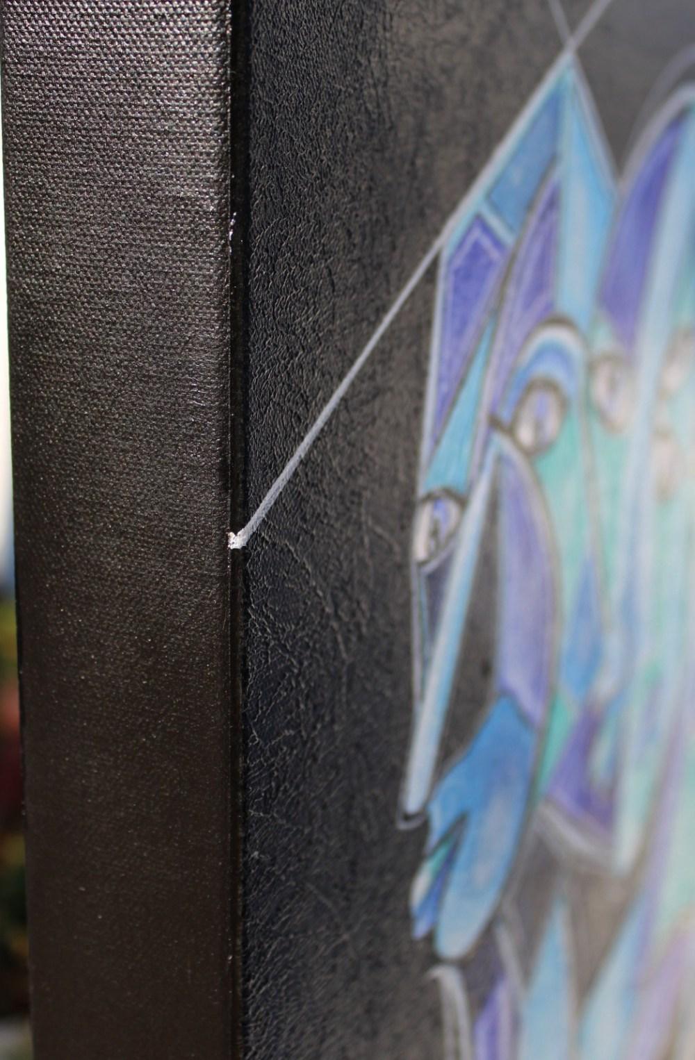 art contemporain peinture contemporaine visages étranges visages bleus cubisme cubism