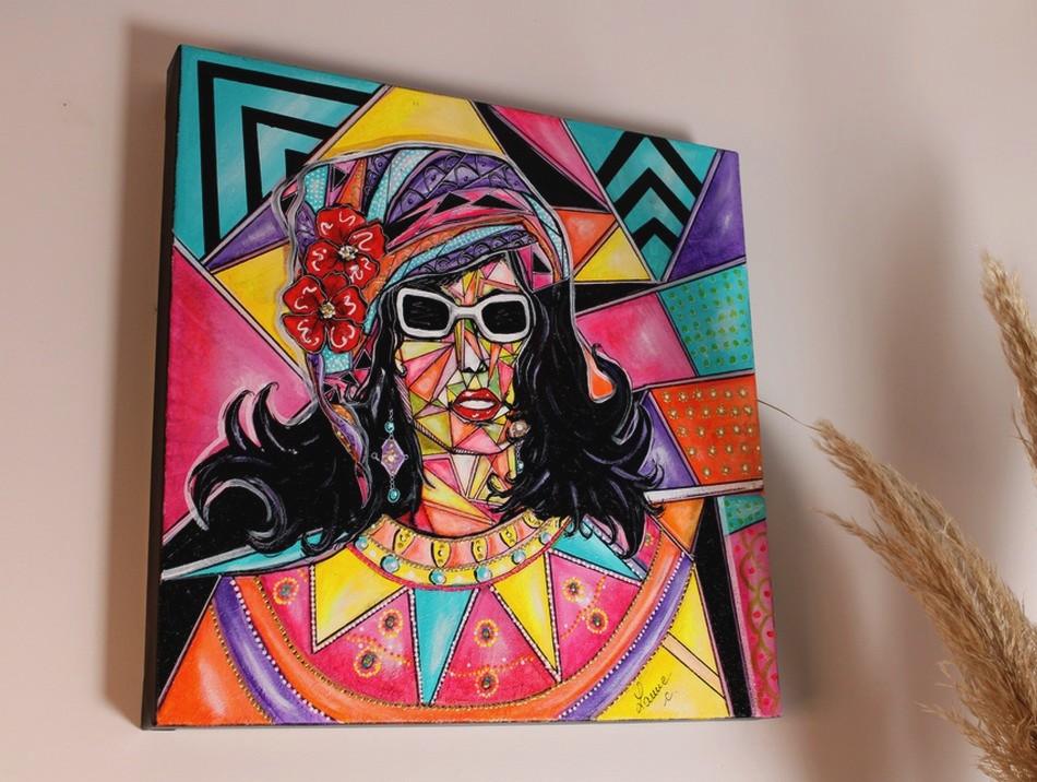 art contemporain peinture tableau contemporain pop art pop star toile colorée