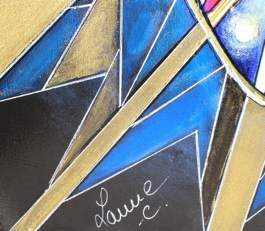 art contemporain peinture contemporaine céline lanne peinture de papillon peinture d'animal peinture géométrique