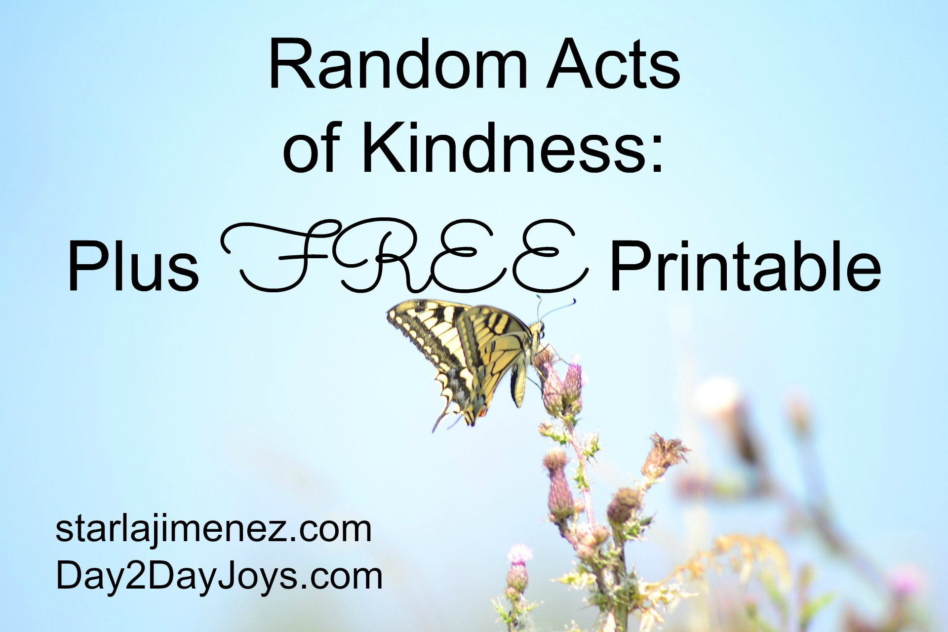 5 Random Acts Of Kindness Plus Free Printable