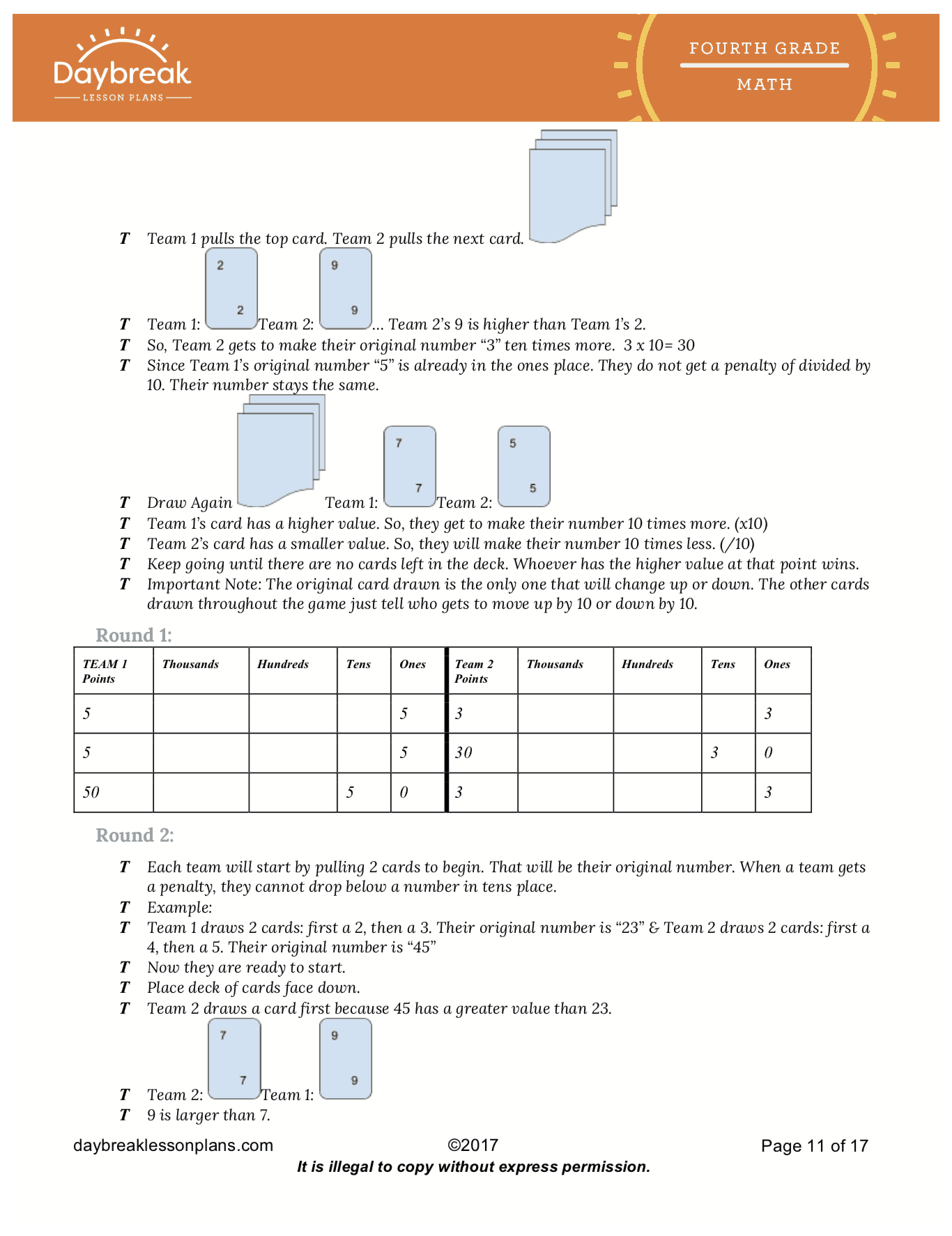 Place Value Understanding For Multi Digit Numbers 10x The Value