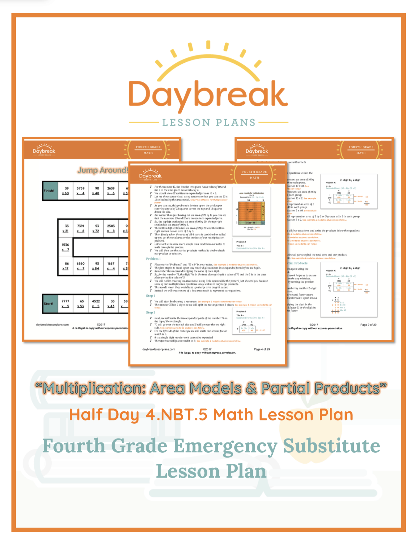 Multiplication Area Models Amp Partial Products