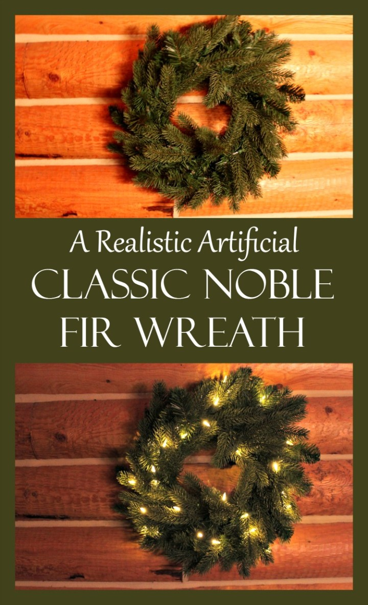 Tree Classics delivers with a realistic artificial classic noble fir wreath prelit and ready for the holiday season