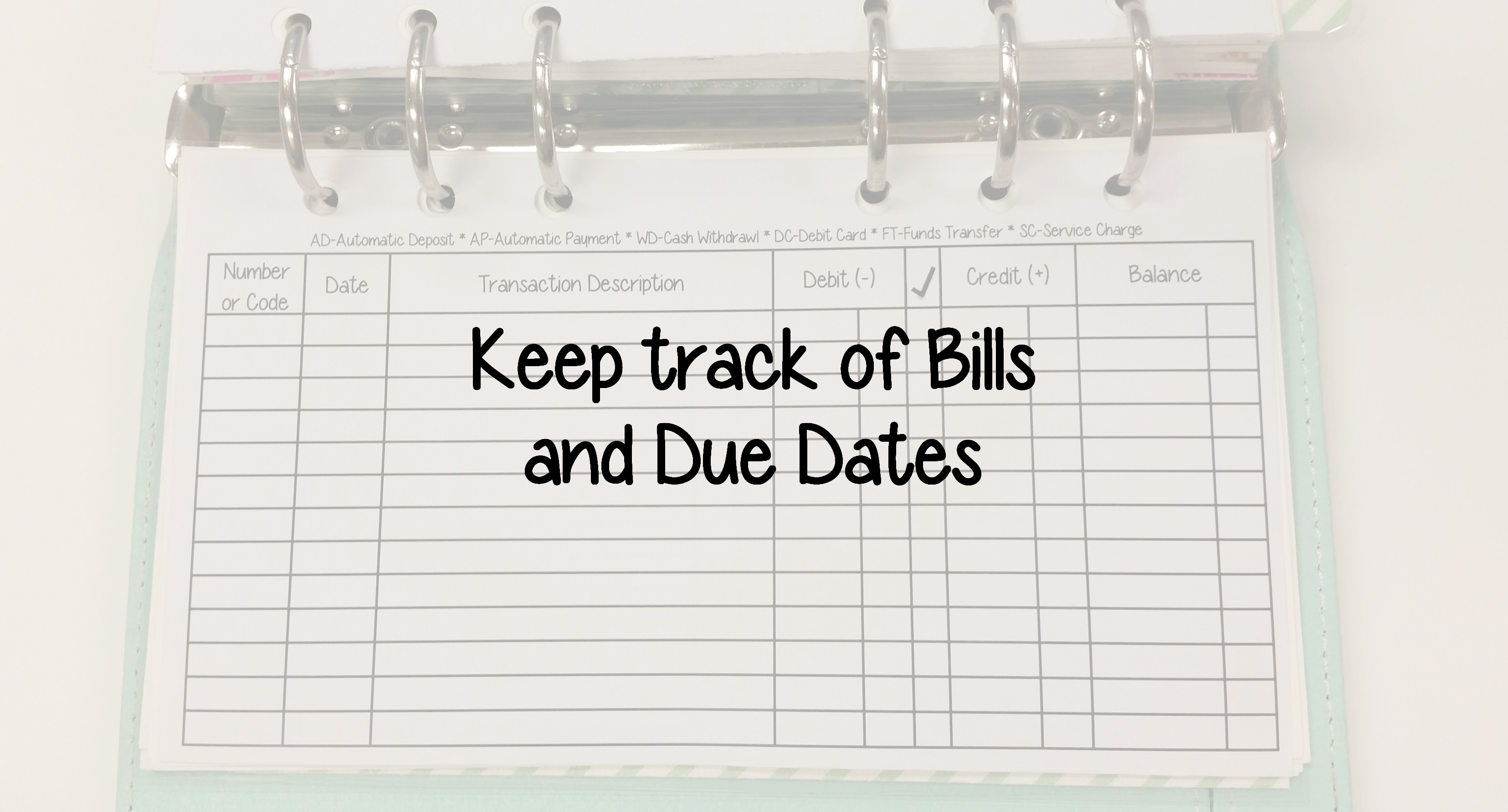Financial Tip Friday Keep Track Of Bills And Due Dates