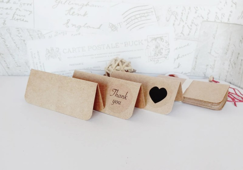 Kraft Card Place Cards