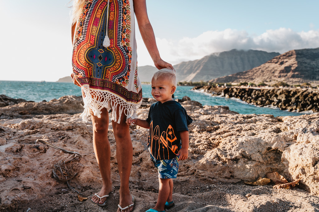 boy with mother during a day in the life photo shoot