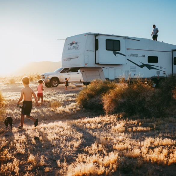 rv family travel boondocking off grid