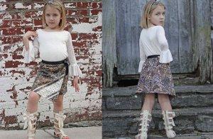 Ruby wrap skirt tester photos.