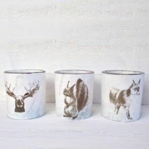 Woodland Tea Light Holders $3 each. 9 Available