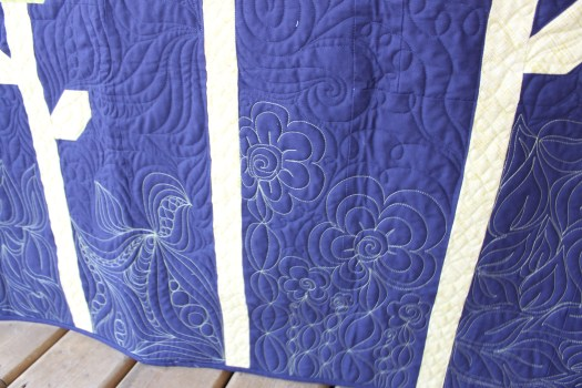Machine Quilted Flowers
