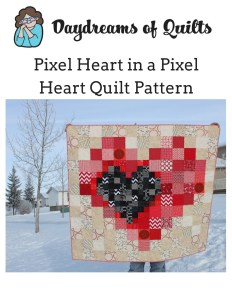 Pixel Heart in a Pixel Heart Pattern