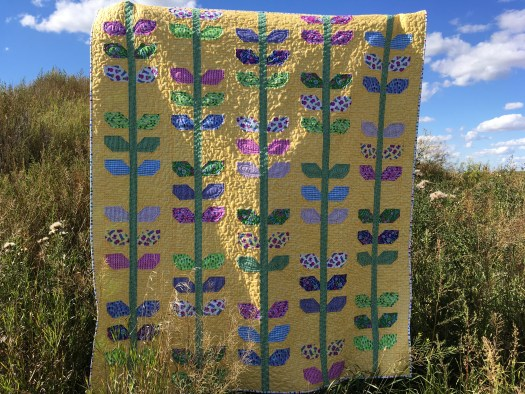 Garden Vines Quilt / Morning Glory Quilt in Flourish fabrics.