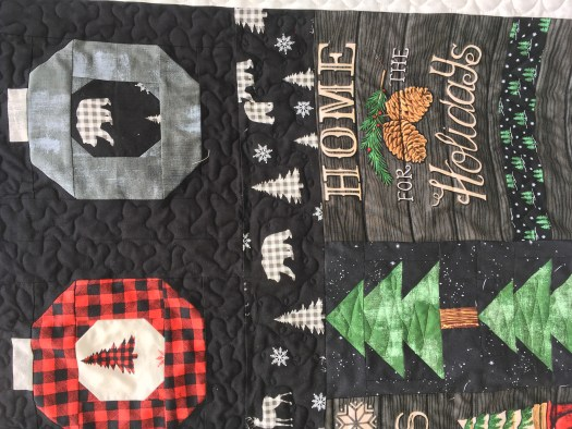 Close-up of quilting.