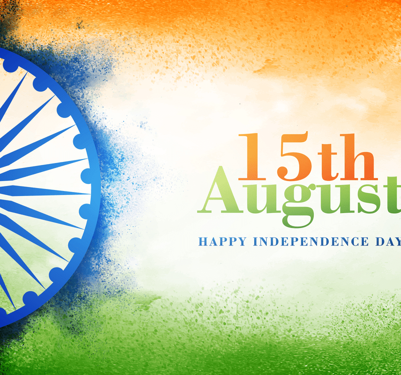National Flag colour background with Ashoka Wheel, Elegant Poster, Banner or Flyer design for 15th August, Happy Independence Day celebration