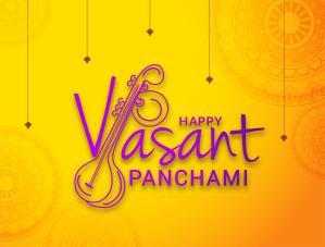 Creative Lettering Design For Festival of Happy Vasant Panchami