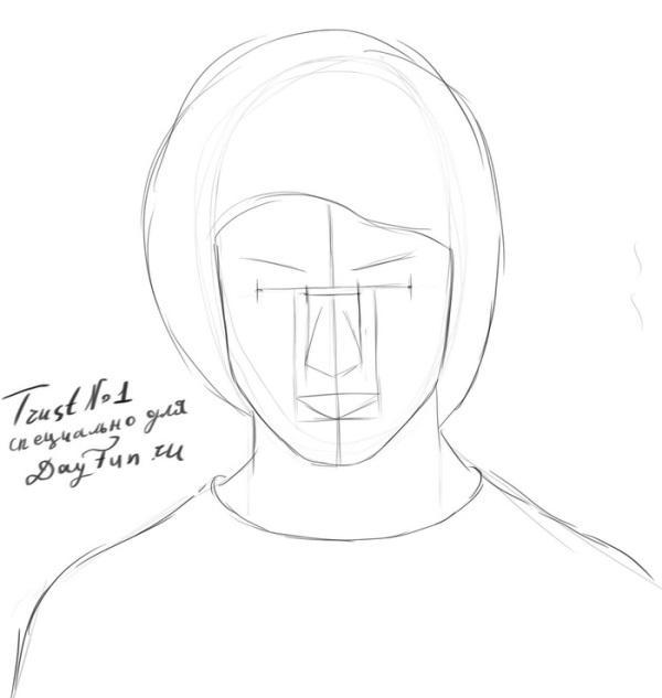 -нарисовать-Гарри-Поттера-карандашом-поэтапно-3 Как нарисовать гарри поттера поэтапно. Учимся рисовать людей