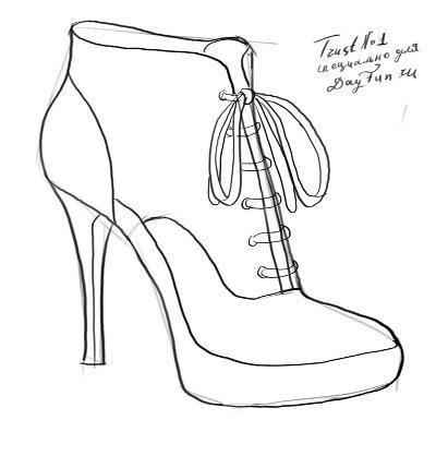 0beea6fe6932e2 Замальовки взуття. Як малювати взуття