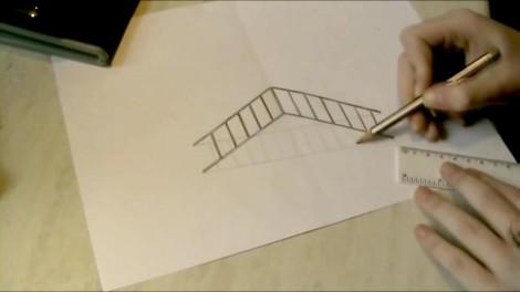 Как нарисовать 3d рисунок на бумаге карандашом