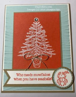 Beachy Little Christmas Card Stampin Up
