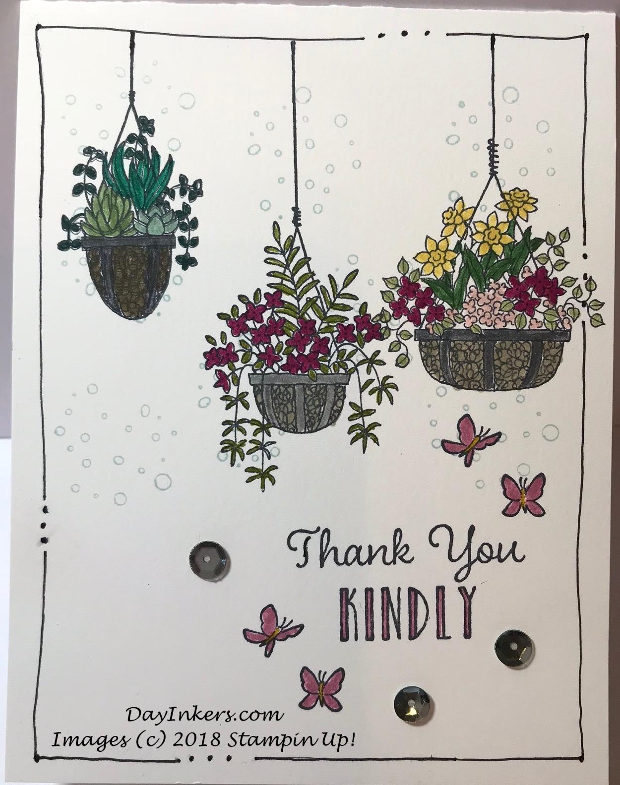 Hanging Garden Single Layer Card