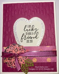 Stampin Up Sweetheart Embossing Folder