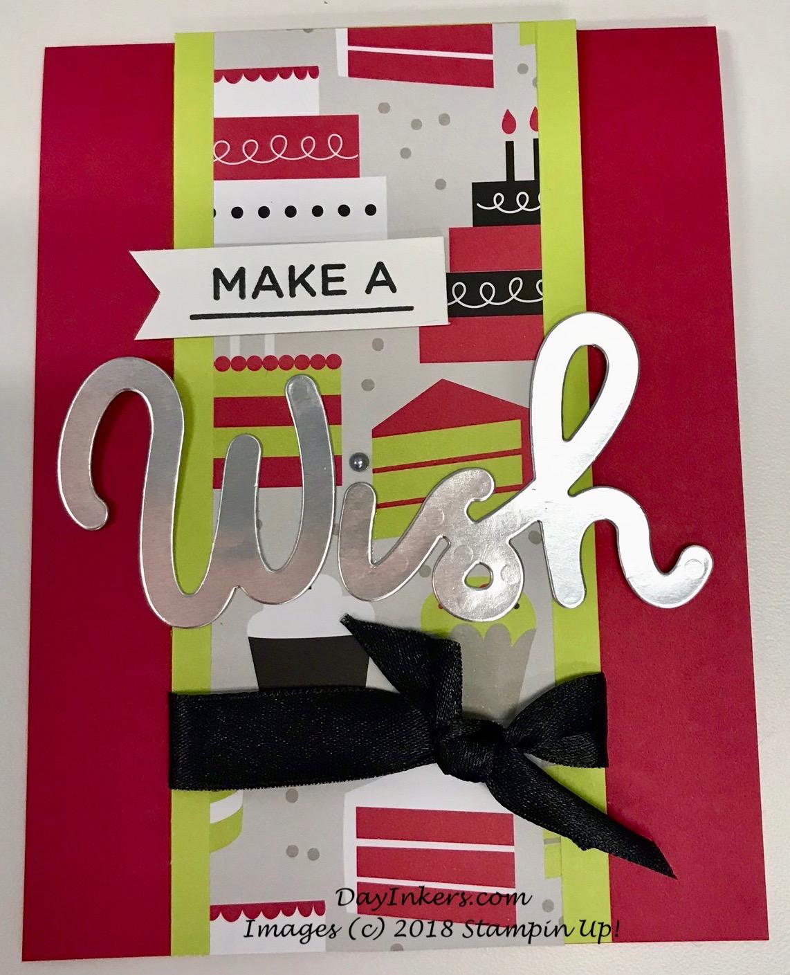 Stampin Up Broadway Bound Wish Birthday Card