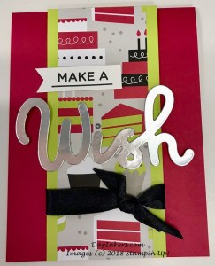 Stampin Up Broadway Bound Wish Birthday Card