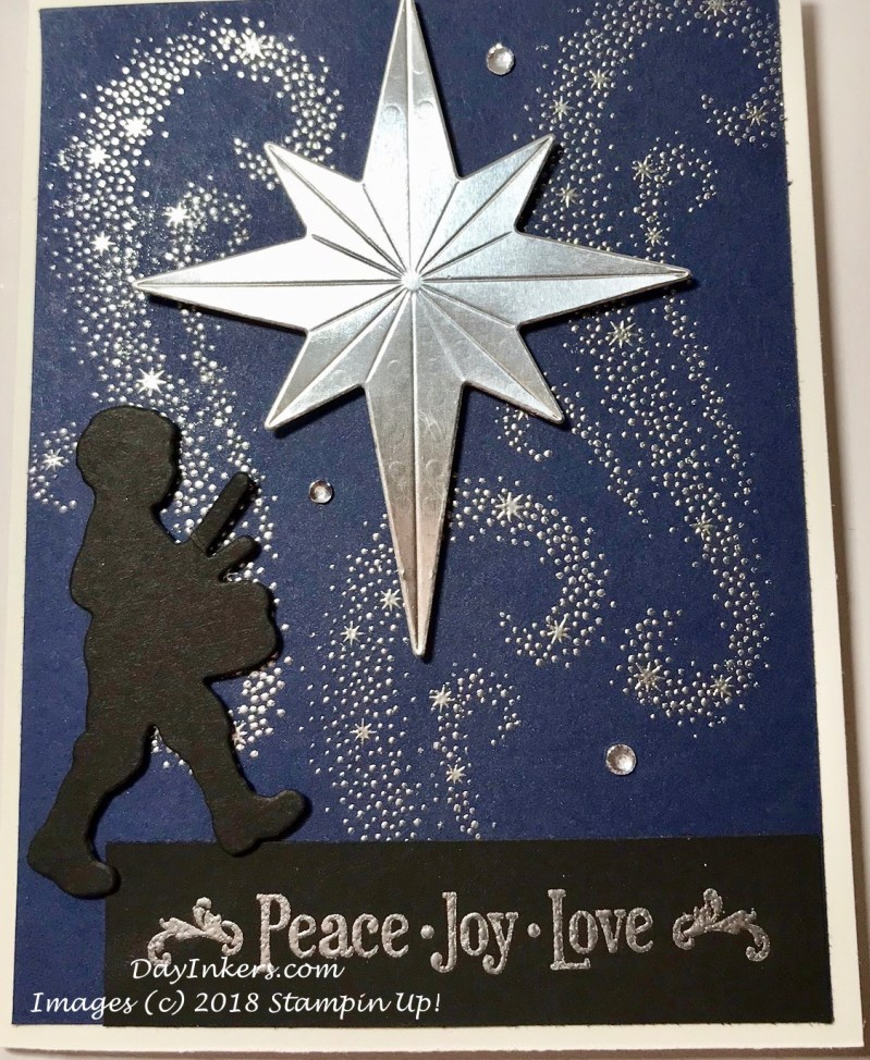 Star of Light Heat Embossed with Silver Foil
