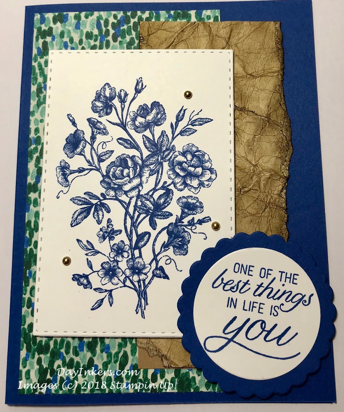 Stampin Up DSP and distressed cardstock