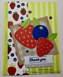 Tutti-Frutti Picnic Paradise Paper Pumpkin