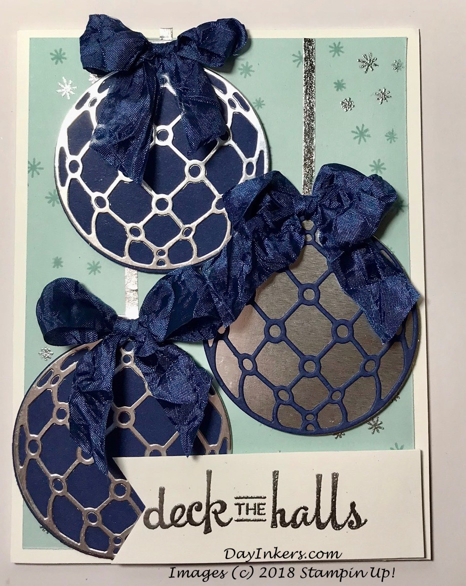 Beautiful Baubles in Silver and Night of Navy