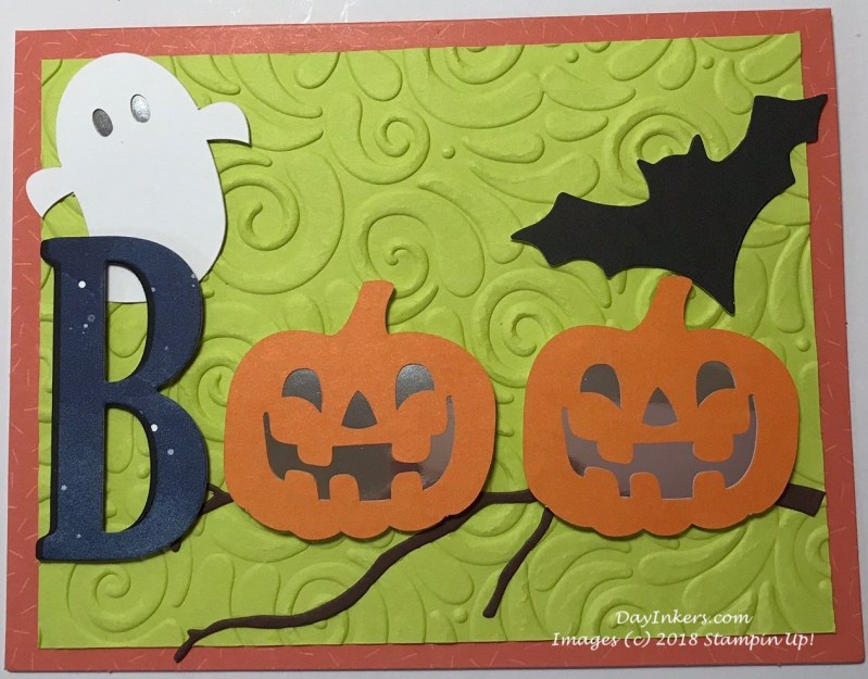 Paper Pumpkin Frights and Delights BOO Alternate