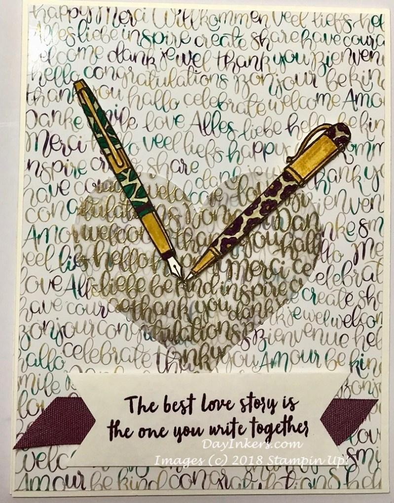 Stampin Up Handwritten Anniversary Card