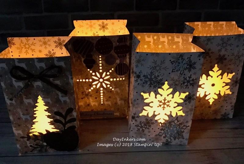 Stampin' Up! Gift Bag Punch Board Luminarias