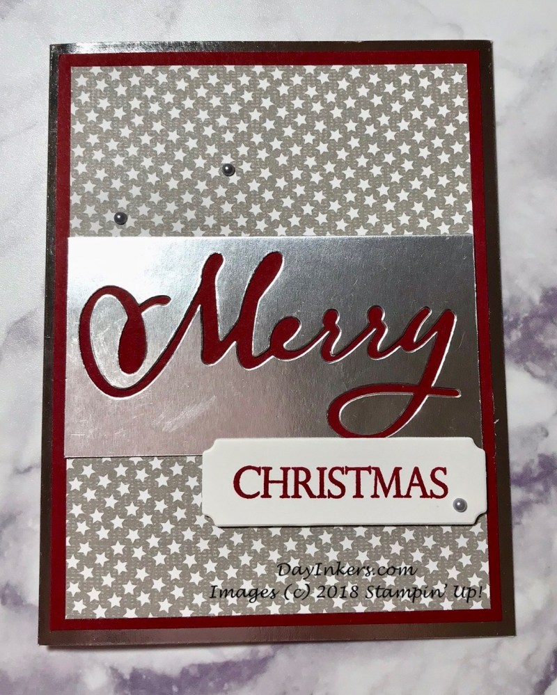 Stampin' Up! Merry Christmas to All shadow