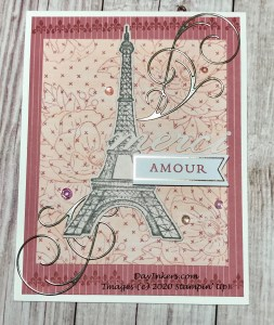 Alternate card using stamps and dies from the Parisian Beauty set.