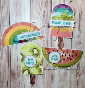 Popsicle cards in the You're So Cool April Paper Pumpkin subscription box from Stampin' Up!