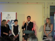 Ashley giving his winning speech