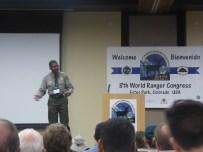 Shelton Johnson, Ranger at Yosemite National Park speaking at the Congress