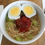11 a.m. — Stephanie gets creative to elevate instant ramen in Hutchinson, Minn., on Tuesday, April 14, 2020.