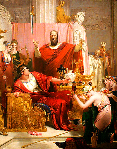 Sword of Damocles, Richart Westall, 1812
