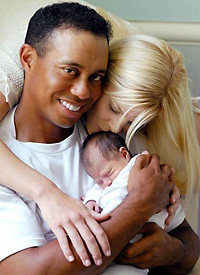 Tiger Woods and family
