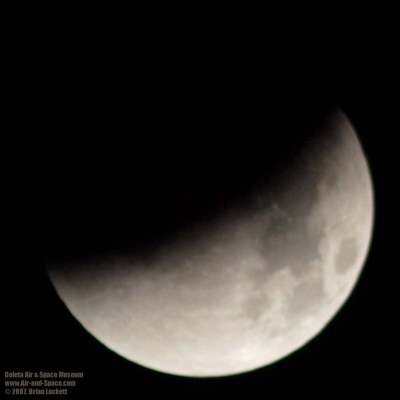 A partial lunar eclipse