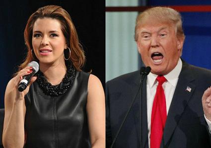 Alicia Machado and Trump